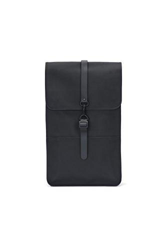 Rains Backpack, Mochila Unisex Adultos, Negro (Black), 29.0x45.0x10.0 cm (W x H x L)