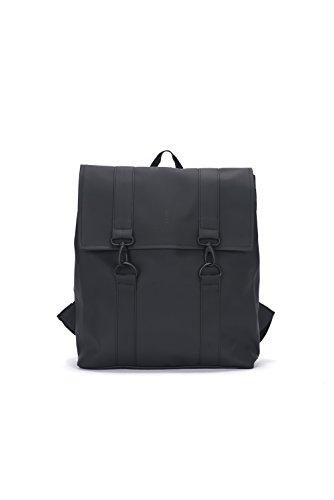 Rains MSN Bag, Mochila Unisex Adultos, Negro (Black), 35.0x39.0x14.0 cm (W x H x L)
