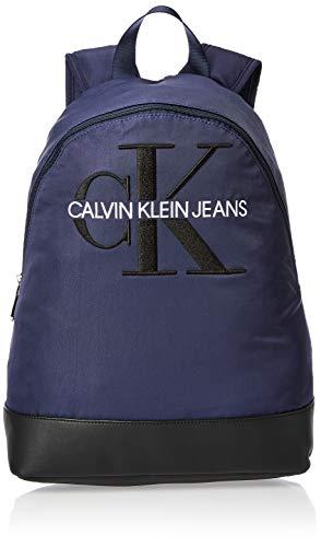 Calvin Klein - Ckj Monogram Nylon Cp Bp 40, Shoppers y bolsos de hombro Hombre, Azul (Navy), 0.1x0.1x0.1 cm (W x H L)