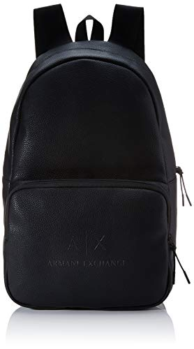 Armani Exchange - The Backpack, Mochilas Hombre, Negro (Black/Gun Metal), 46x18x27 cm (B x H T)