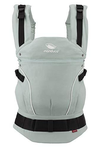 manduca First Baby Carrier  PureCotton  Mochila Portabebe Ergonomica, Algodón Orgánico, Extensión de Espalda Patentada, para Recién Nacidos y Bebés de 3,5 a 20 kg (PureCotton, Mint (verde menta))