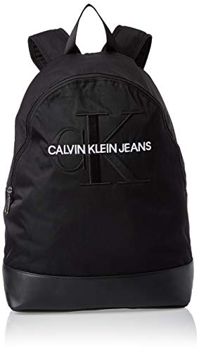 Calvin Klein - Monogram Nylon Cp Bp W/o Pocket, Mochilas Hombre, Negro (Black), 1x1x1 cm (W x H L)