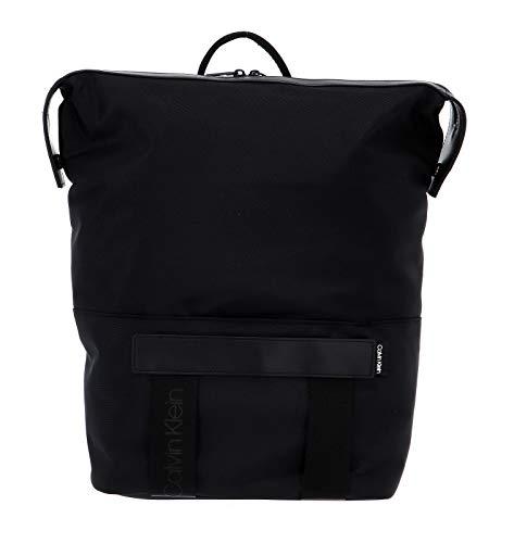 Calvin Klein NASTRO Logo TRAPEZEE Backpack, Mochilas para Hombre, Negro, OS