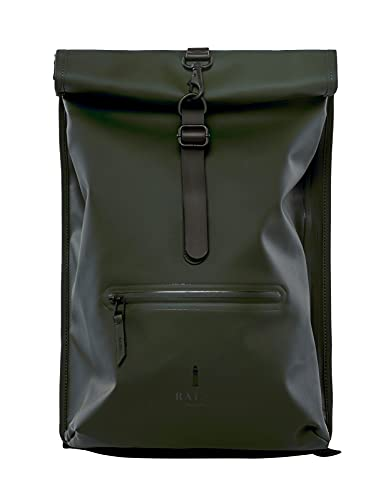RAINS Roll Top Rucksack Mochila De Mountain Bike, Mujer, Green, Talla Única