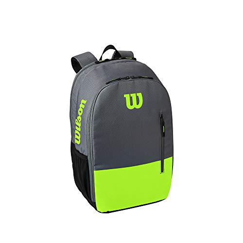 Wilson Mochila de tenis Team, Hasta 2 raquetas, Verde/Gris, WR8009903001