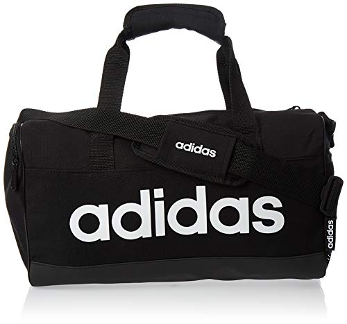 adidas Lin Duffle XS Gym Bag, Unisex Adulto, Black/Black/White, NS
