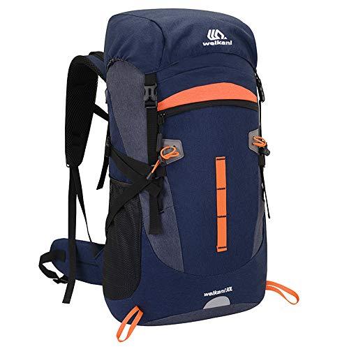 Sipobuy 50L Mochila De Senderismo Bolsa De Escalada, Impermeable Ligera Mochila De Camping De Trekking, Mochila De Hombro De Viaje Al Aire Libre Bolsa para Hombres Y Mujeres (Blue)