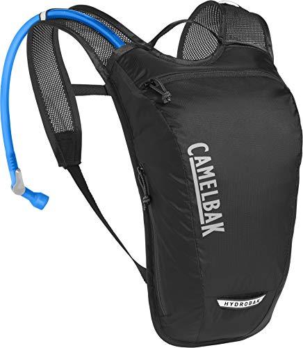 CamelBak Hydrobak Light Mochila de hidratación, Unisex Adulto, Negro, Plata, Talla única