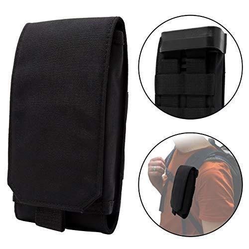 Clakit Strap-Pack: Mochila Correa de hombro Bolsillo con clip para excursionistas, motociclistas, viajeros / para todos los smartphones de tamaño normal hasta 8,5cm x 16cm - negro
