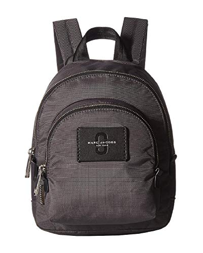 Marc Jacobs mochila de nylon gris 25x30x8cm nuevo