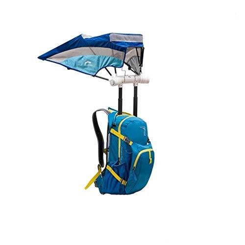 MYFGBB Mochila Inteligente con sombrilla, Mochila Deportiva Senderismo Senderismo Mochila Impermeable Mujer Protector Solar Gran Capacidad Hombre Bolsa de Paraguas de Viaje portátil al Aire Libre,F