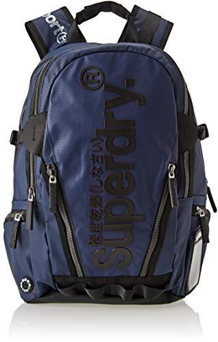 Superdry - Silver Tarp, Mochilas Hombre, Azul (Navy), 34x45x15 cm (W x H L)