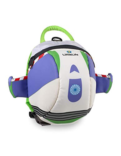 LittleLife Buzz Lightyear Disney Toddler Backpack Mochila con riendas de Seguridad, Infantil, Blanco, Talla única