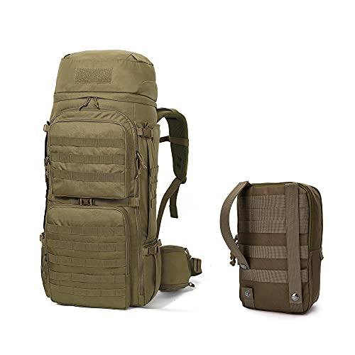 Mardingtop 55 litros mochilas de trekking tácticas para adultos mochila mochila de senderismo al aire libre y bolsa de accesorios