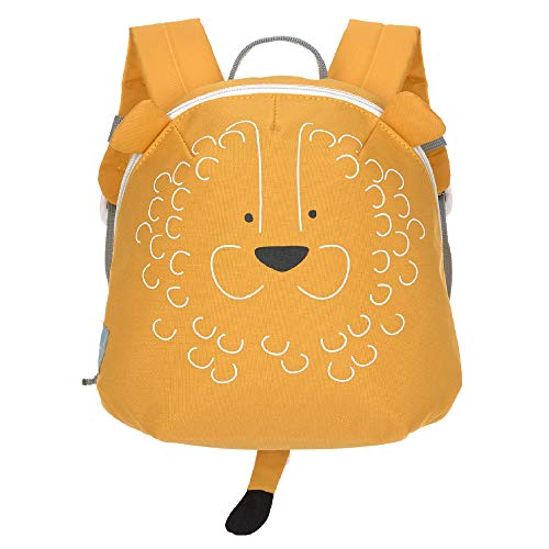LÄSSIG About Friends Tiny Backpack Mochila infantil pequeña para el jardín de infancia con correa para el pecho a partir de 2 años, 24 cm, 3,5 L, Lion