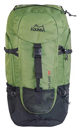 Kounga Bonpland Mochila, Adultos Unisex, Verde Oscuro, 90L