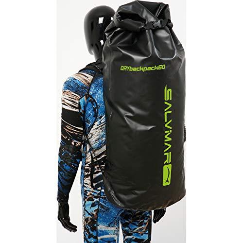 Salvimar Drybackpack 60 Mochila/macuto pesca submarina, 100 l, Negro