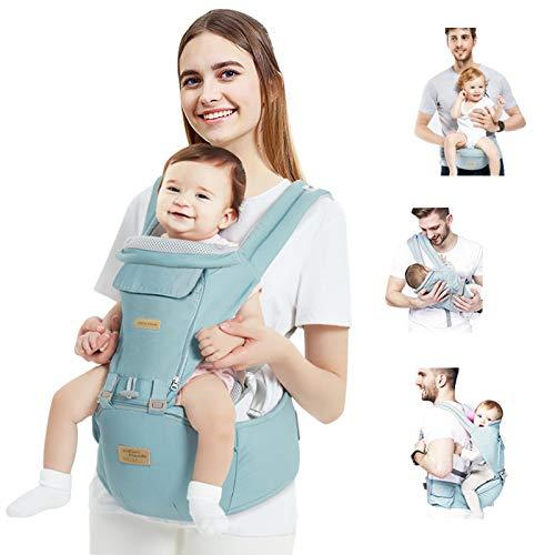 TOPERSUN Mochila Portabebés con Asiento Portador de Bebé Fácil de Usar Ajustable Algodón Ligero y Transpirable