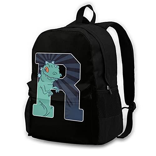 Rugrats Reptar - Mochila de doble compartimento para estudiantes de 16,5 pulgadas, apta para niños y niñas, escuela, universidad, viajes al aire libre