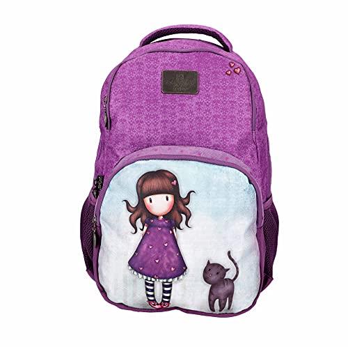 SANTORO Gorjuss Schulrucksack/Backpack mit 15,6' Laptopfach Purrrrrfect Pals, 46cm, 25l, 21gjs105a-pur Purrrrfect Mochila Escolar (46 cm, 25 L), 46 x 32 x 16 para Niñas