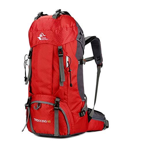 free knight Mochila impermeable de 60 litros, ultraligera, plegable, para escalada, viajes, camping, con funda para la lluvia