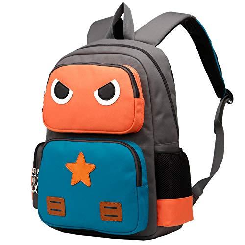 SIVENKE Mochila Infantil para Niños & Niñas de 5 a 10 años 15L Escuela Primaria Mochila Escolar Naranja+Verde