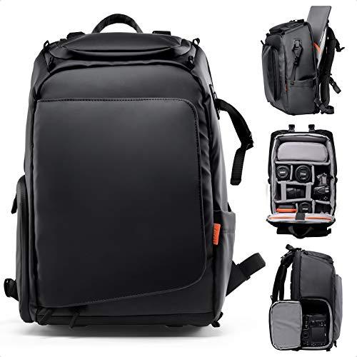 Zecti DSLR/SLR Mochila para cámara Mochila para cámara Mochila Grande para cámara Impermeable con Sistema antigravedad, Compartimento para computadora portátil, Montaje en trípode para fotógrafos