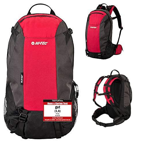 Hi-TEC - Mochila de senderismo ligera para hombre y mujer, mochila para exteriores, con bolsillo para casco de poliéster 600D impermeable (35 L)