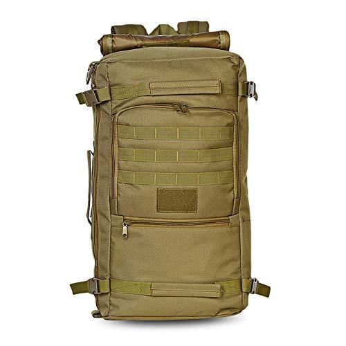 Greenpromise Mochila táctica militar de 60 L para caza, camping, portátil, mochila de nailon Oxford impermeable, mochila militar para deportes al aire libre (Khaki)