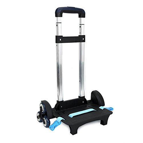 Carro para Mochila - Carretilla con Ruedas Carretilla sin plegadura de aleación de Aluminio para Mochila (Azul, 6 Ruedas)