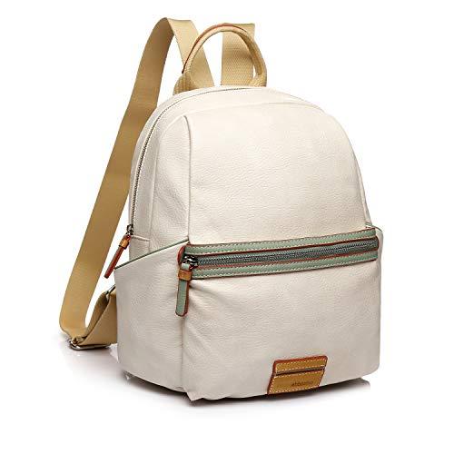 Abbacino mochila mujer con cremalleras material PU color beige
