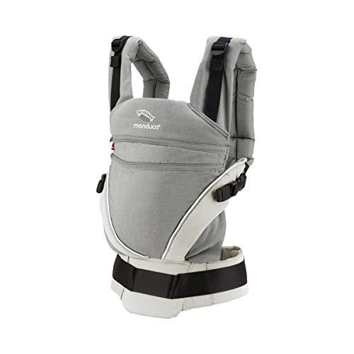 manduca XT Mochila Portabebe  Cotton grey/white  Portabebé con Anchura de la Base Regulable en Continuo, Algodón Orgánico, para llevar al Bebé Delante, a la Espalda, en la Cadera (3,5- 20kg)
