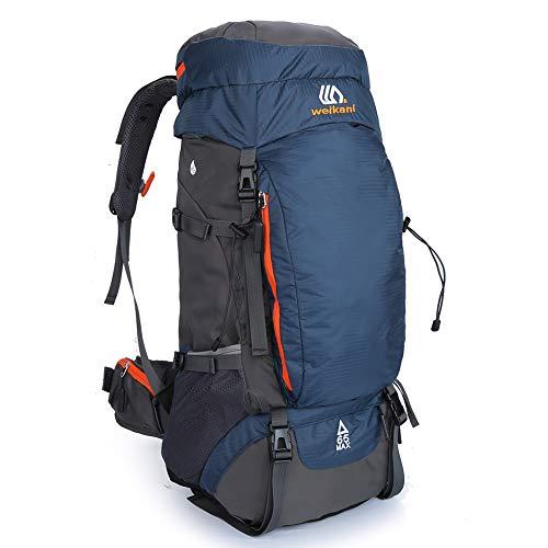 SKYSPER Mochilas de Senderismo 50L/65L con Cubierta Impermeable Mochila de Marcha Trekking Macutos para Viajes Excursiones Acampadas Trekking Camping Deporte al Aire Libre