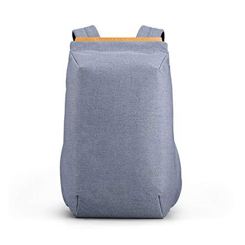 YCRCTC Kingsons 2020 Nuevas Mochilas Impermeables, Mochila Escolar con Carga USB, Mochila Antirrobo for Hombres Y Mujeres, Mochila De Viaje for Ordenador Portátil (Color : Light Blue)