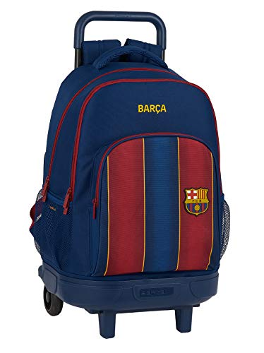 Safta 612029918 Mochila grande con ruedas carro, Trolley FC Barcelona