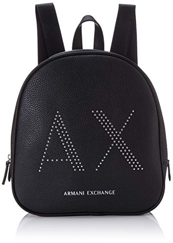 Armani Exchange Pebble with Studs - Mochila para mujer (26,5 x 8,5 x 24 cm), color Negro, talla 26.5x8.5x24 cm (B x H x T)