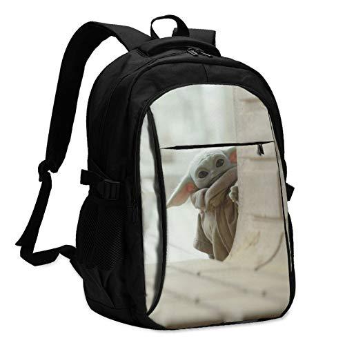 Star Yoda Wars - Mochila para portátil con carga USB y puerto para auriculares para hombre y mujer, gran bolsa ligera para la escuela, el trabajo y los viajes.
