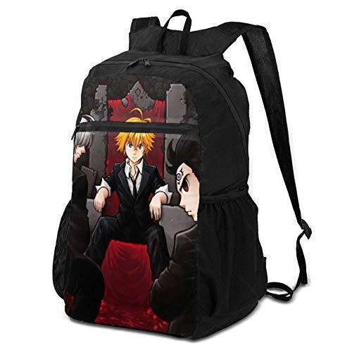 Mochila de Viaje para Adultos, los Siete pecados Capitales Personajes Anime Poster Bookbag, Elegante Bolsa de Herramientas para Herramientas de Compras al Aire Libre,38x24x17cm
