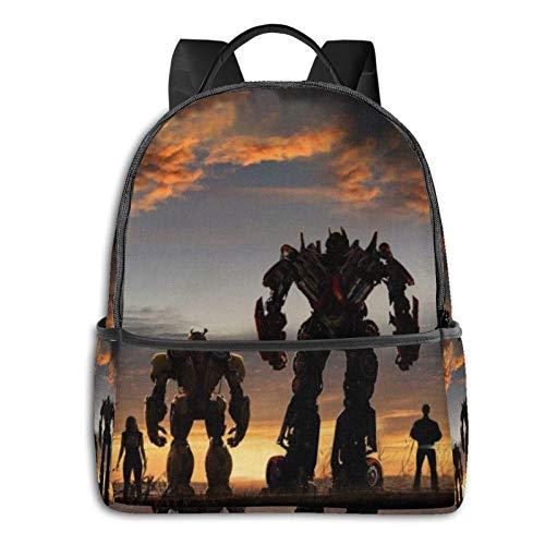 Transformer Bumblebee Optimus Prime - Mochila para ordenador portátil de viaje, para hombres y mujeres, antiTheft Slim Durable Backpack, College School Computer Bag