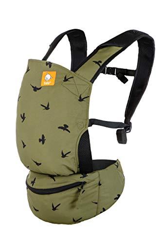 Mochila portabebé ultraligera Tula Lite Soar de tres posiciones, para bebés de 5,4 a 13,6 kg. Color verde