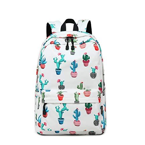Acmebon Mochila Estampada Moderna para Niñas Mochila Informal del Estudiante Cabe Un Portátil De 14' Cactus de Color