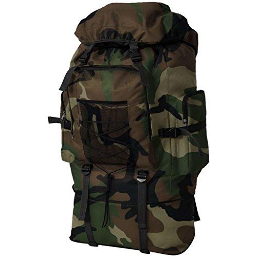 vidaXL Mochila Militar XXL 100 L Camuflaje