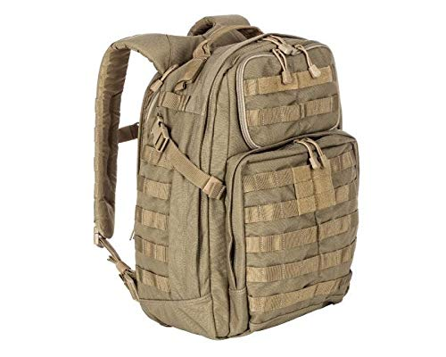 5.11 Tactical Rush - Mochilas tipo casual con cierre de cremallera, color marrón