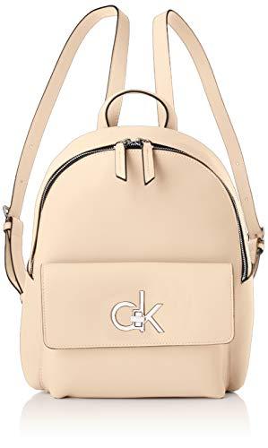 Calvin Klein - Re-lock Backpack Sm, Mochilas Mujer, Rosa (Light Sand), 1x1x1 cm (W x H L)