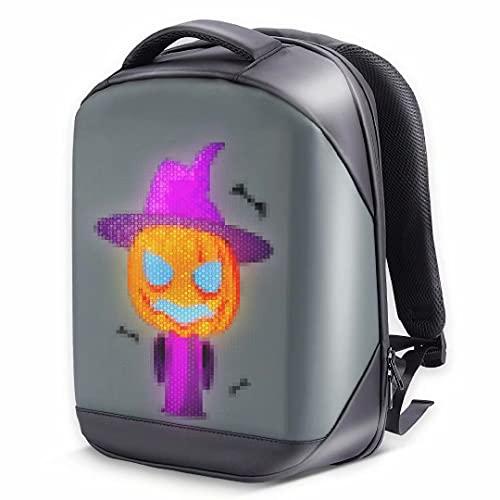 Mochila de moda para bricolaje,mochila para computadora portátil de viaje con pantalla LED a todo color,adecuada para adultos y estudiantes universitarios,15.5 pulgadas,el mejor regalo para hombres