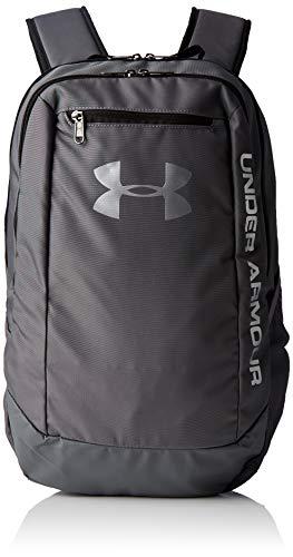 Under Armour UA Hustle Backpack LDWR Mochila Hombre Gris (Graphite/Graphite/Silver 040) Talla única