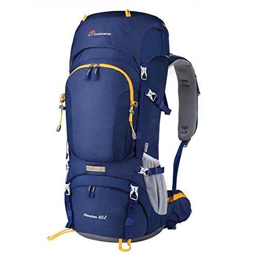 MOUNTAINTOP 50/60L Mochila de Senderismo Gran Capacidad Mochila de Montaña Impermeable para Viaje Camping Deporte al Aire Libre