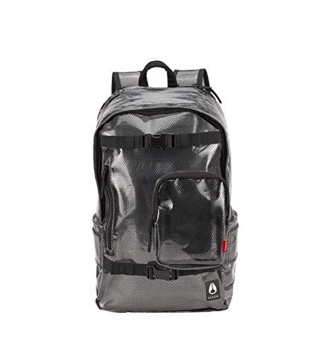 Detalles en mochila Nixon Smith backpack clear fashion moda escuela tiempo libre trekking