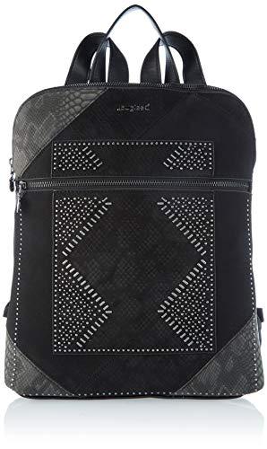 Desigual Accessories PU Backpack Medium, Mochila. para Mujer, negro, U