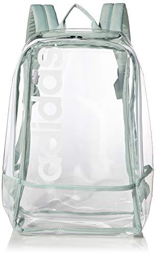 adidas Unisex 978477 Mochila lineal transparente, Unisex, 978477, Transparente/Verde/Negro/Blanco, Talla única